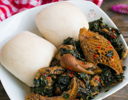 Pounded Iyan and Egusi Soup