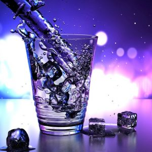 water, glass, ice
